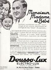 """Publicité Ancienne """" DOUSSO-LUX adoucisseur 1933  """""""