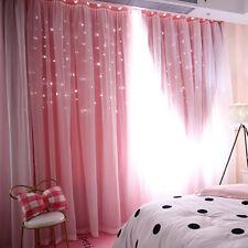Fashion Starry Sky Sheer Curtain Double-layer Home Floor-Curtain Bedroom Decor