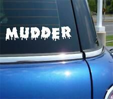 MUDDER 4X4 TRUCK MUDDING FUNNY DECAL STICKER ART CAR WALL