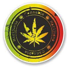 2 x Cannabis Vinyl Sticker Laptop Travel Luggage Car #5861