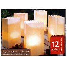 2 x 12 Große Leuchttüten für Innen und Außen Papier Lichttüten Candle Bags