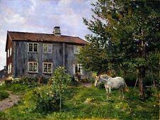 At the Farm Horse by G. Munthe Tile Mural Kitchen Wall Backsplash Ceramic 10x8
