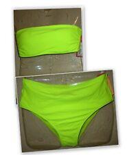 Xhilaration Neon Yellow high waist cheeky BOTTOM or underwire bandeau TOP