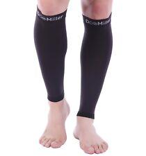 Doc Miller Calf Compression Sleeve 30-40 mmHg Varicose Veins Leg Support BLACK