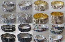 New Full Crystal Rhinestone Stretch Bracelet Bangle Wedding Bridal Party Jewelry