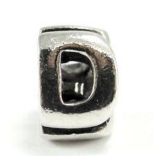 Authentic Chamilia Sterling Silver Bead Alphabet Letter D #T-30