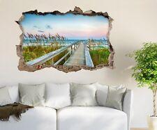 3D Reed Beach Bridge 57 Wall Murals Wall Stickers Decal breakthrough AJ WALL CA