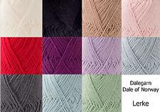 Dale of Norway Dalegarn Lerke Merino Wool Egyptian Cotton Blend Yarn Knit Croche