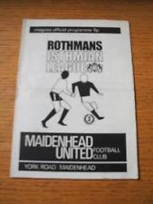 01/09/1973 Maidenhead United v Hemel Hempstead [FA Cup] (Folded). Item In very g