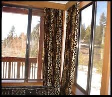 """Leopard Print Curtains (2 panels) 51"""" Long"""