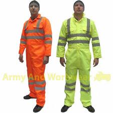 Hi Viz Safety Boiler Suit Coveralls Overalls Mens EN471 Reflective Tape Workwear