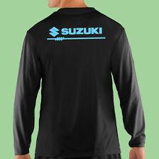 T-Shirt, Long Sleeve, Black, Motor Sports, Racing, Suzuki, Gildan 100% Cotton