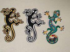 """Gecko Lizard 3.5"""" x 2.5"""" iron on patch applique Choose Color (C45-47)"""