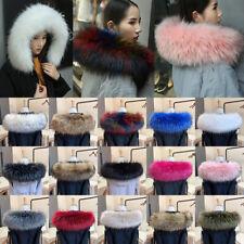 Warmer Hooded Jacket Fur Decor  Lady Fur Collar Faux Raccoon Coat Fur Collar