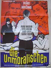 DIE UNMORALISCHEN - Lilli Palmer, Paul Hubschmid - Filmplakat A1 1964