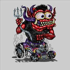 * monster Hot Rod T-Shirt Consejo cómic retro Fink vintage car style Auto * 1085