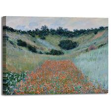 Monet campo di papaveri in cava quadro stampa tela dipinto telaio arredo casa
