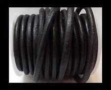 100% de su capacidad real ronda Cordón de Cuero 6mm Tanga con Cadena Joyería-HQ