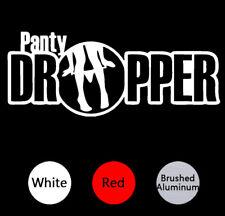 PANTY DROPPER FUNNY CAR DECAL. JDM DRIFTING RACING TRUCK WINDOW STICKER VINYL