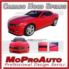 2010-2015 Chevy Camaro SS RS HOOD SPEARS Side Decals Stripe 3M Vinyl Pro Series