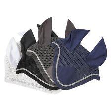 Ohrenhaube Strass Fliegenohren Fliegenschutzohren elastisch Pony WB dunkelblau