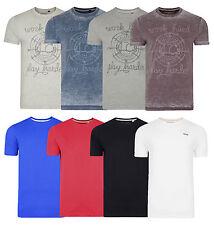 Lee Cooper impreso liso nuevo para hombre Camisetas De Algodón Llano Camiseta Camiseta Top