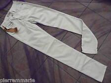 CHEYENNE PANTALON SLIM BLANC CLOUS W30 T 40 valeur 119E