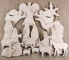 De Madera Navidad Natividad CRAFT forma 20 artículos manger Reyes pastores Angels