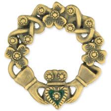 PinMart's Antique Bronze Irish Claddagh Brooch Lapel Pin