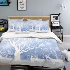 3D Äste Weiß 774 Bett Kissenbezüge steppen Duvet Decken Set Single DE Carly