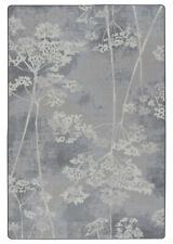 Milliken Blue Contemporary Stalks Petals Branches Area Rug Floral 4000174071