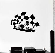 Vinyl Wall Decal Garage Sports Car Race Boys Room Stickers Mural (ig3340)