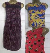 NEW Next Shift Tunic Sun Dress Linen Blend Sleeveless Blue Red Pink Gold 6-20