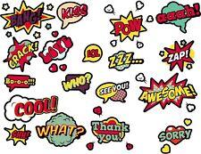 FUN COMIC SPEECH BUBBLES V1 STICKERS CHILD KIDS BATH WALL LAPTOP WINDOW FRIDGE