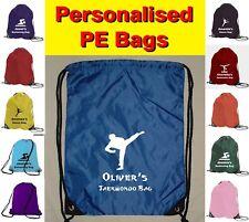 Personalised Taekwondo / Karate Logo PE Sports Gym Bag