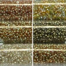 Miyuki Rocailles 15/0 rund 1,5 mm mit goldschimmer 5g = 1 Röhrchen