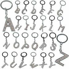 Heiß A - Z Initials Alphabet Silver Schlüsselring Schlüsselanhänger Keychain