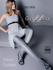 Shiny Micro Satine Opaque 100 Denier Legwear 2 Colours Tights Hosiery Gabriella
