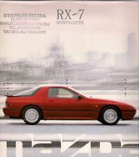 Mazda RX-7 Coupe 1988-89 UK Market Sales Brochure