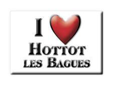 MAGNETS FRANCE - BOURGOGNE SOUVENIR AIMANT I LOVE HOTTOT LES BAGUES (CALVADOS)
