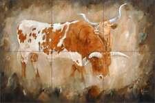 Longhorn Tile Backsplash Winkler Art Ceramic Mural RW-KW009