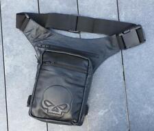 Pouch Satchel Leather Hips Legs Thigh - Big Model Skull Skull