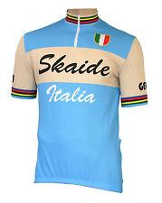 Radtrikot Skaide Italia Retro Azzurro/Creme kurzarm (auch Übergrößen bis 6XL)