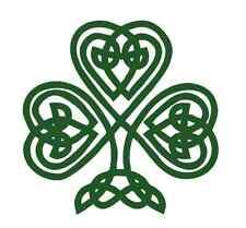 Celtic Knot Shamrock 809 - Vinyl Sticker / Decal - Custom Made to Order