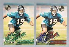 Lot of 2 CHRIS HUDSON #XT443 Jaguars RC Colorado 1995 stadium club members only