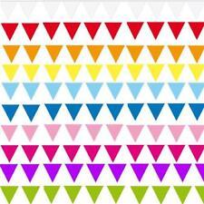 10 m Wimpelkette Wimpel Girlande Farbauswahl Party Geburtstag Deko Event