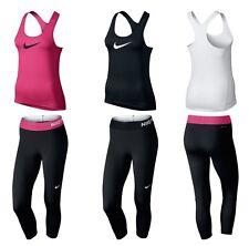 Nike Da Donna Leggings Pantaloni Sportivi Pantaloni Corsa Palestra Tank Top canotta T SHIRT CANOTTIERA