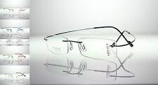 HINGELESS Titanium Rimless PROGRESSIVE MULTIFOCAL TRANSITIONS Reading Glasses
