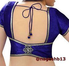 Readymade Saree Blouse, Blue Sari Blouse, Crop top, Choli, ready to wear blouse