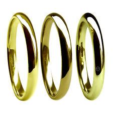 2mm 18kt Gelbgold Hochzeit Ringe Pumps Comfort Hm 750 M Hvy & X Schwer Band